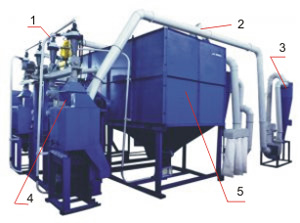 Агрегат очистки и подготовки зерна к помолу ПТМА-1