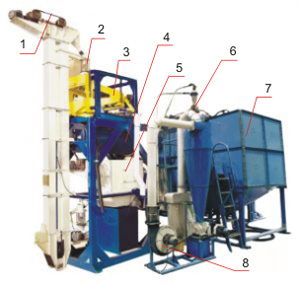 Агрегат очистки и подготовки зерна к помолу ПТМА-4
