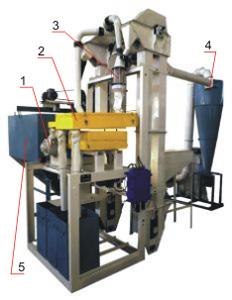 Агрегат очистки и подготовки зерна к помолу РТ-АОЗ-ЗП