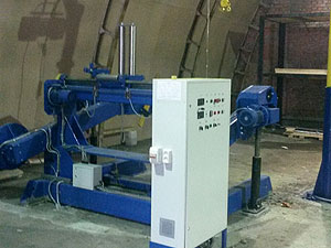 Линия для перемотки и контроля проводов диаметром до 100 мм